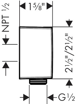 Wall Outlet Square with Check Valves