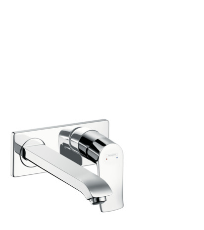 Single lever basin mixer for concealed installation wall-mounted with spout 22.5 cm