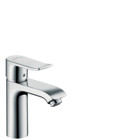Single lever basin mixer 110 with pop-up waste