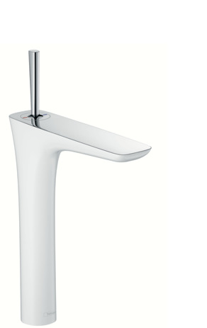 Single lever basin mixer 240 for wash bowls and push-open waste