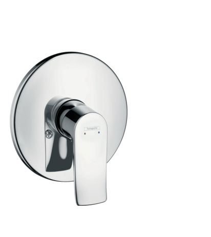 Single lever manual shower mixer for concealed installation