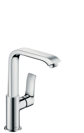 Single lever basin mixer 230 with push-waste