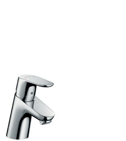 Single lever basin mixer 70 for vented hot water cylinders with pop-up waste set