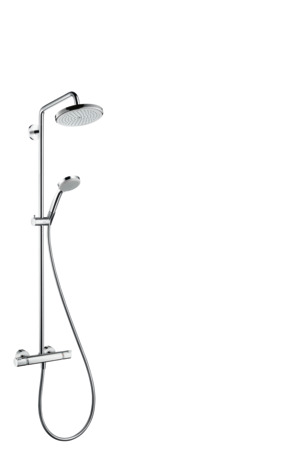 Showerpipe 220 1jet with thermostatic shower mixer