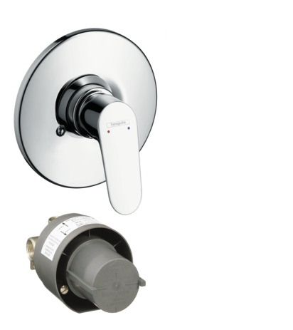 Shower mixer set for concealed installation