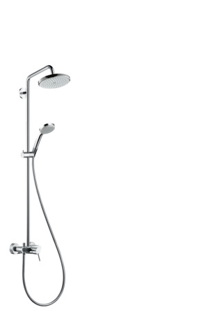 Showerpipe 220 1jet with manual shower mixer