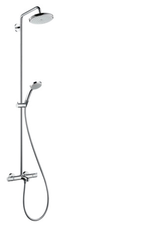 Showerpipe 220 1jet with thermostatic bath mixer