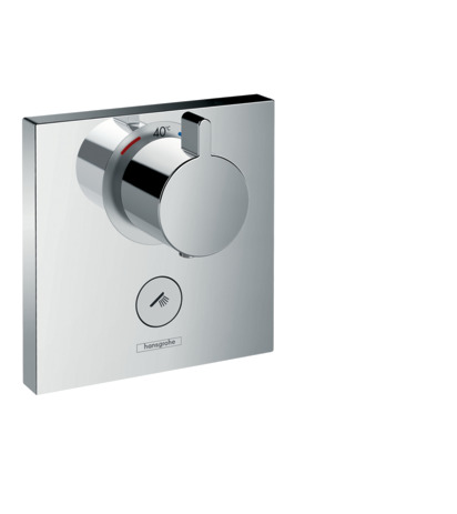 Thermostat HighFlow for concealed installation for 1 function and additional outlet
