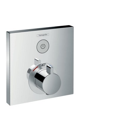 Thermostat for concealed installation for 1 function