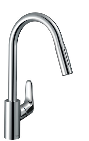 Single lever kitchen mixer 240 with pull-out spray, 2 spray modes