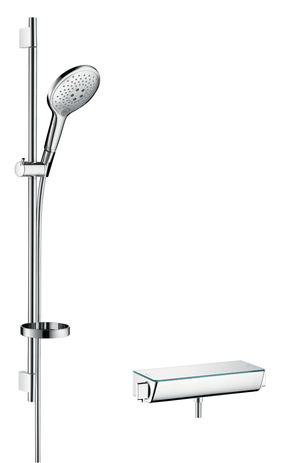 Shower system 150 with Ecostat Select thermostatic mixer and shower rail 90 cm