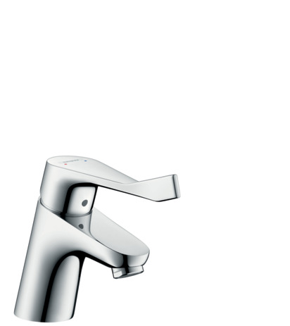 Single lever basin mixer 70 with extra long handle and pop-up waste