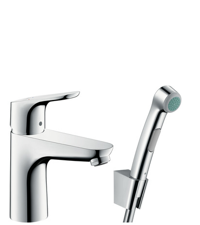 Single lever basin mixer 100 with bidet spray and shower hose 160 cm