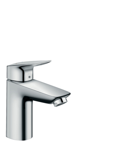 Single lever basin mixer 100 with push-open waste set