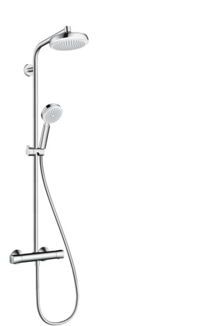 Showerpipe 160 1jet with thermostatic shower mixer