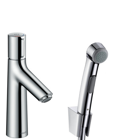 Basin mixer 100 with bidet spray and shower hose 160 cm