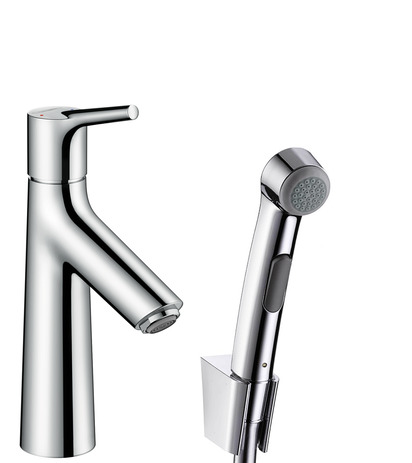 Single lever basin mixer with bidet spray and shower hose 160 cm