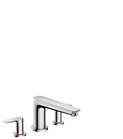 3-hole rim-mounted bath mixer