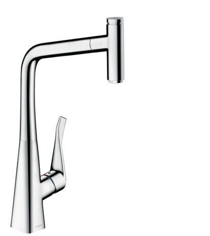 Single lever kitchen mixer 320 with pull-out spout, single spray mode