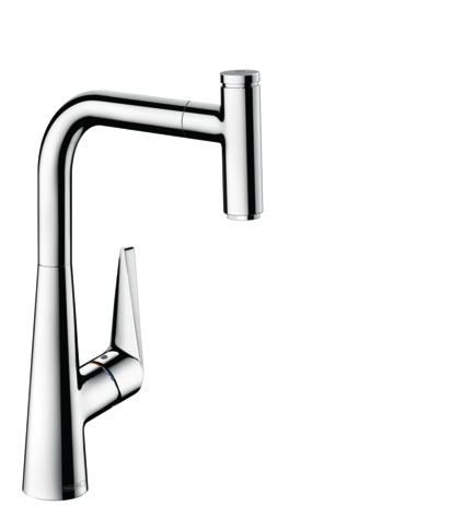 Single lever kitchen mixer 300. Eco, pull-out spout, 1jet