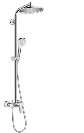 Showerpipe 240 1jet with manual shower mixer