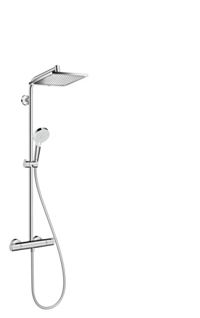 Showerpipe 240 1jet EcoSmart 9 l/min with thermostatic shower mixer