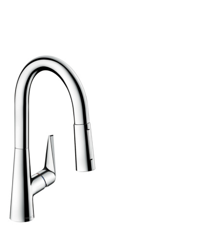 Single lever kitchen mixer 160, pull-out spray, 2jet