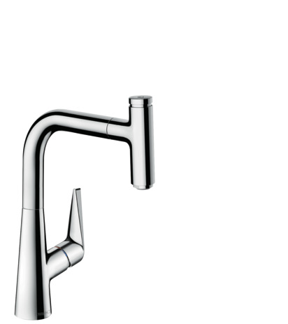 Single lever kitchen mixer 220, pull-out spout, 1jet, sBox