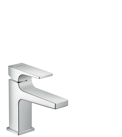 Single lever basin mixer 100 with lever handle for hand washbasins with push-open waste set