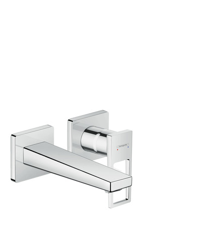 Single lever basin mixer for concealed installation wall-mounted with loop handle and spout 16.5 cm
