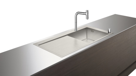 C71-F450-07 Sink combi 450 with drainboard left