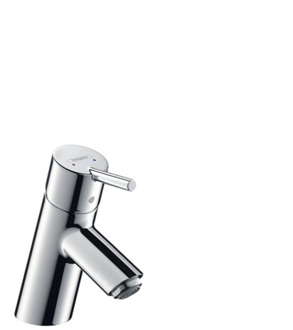Single lever basin mixer for vented hot water cylinder with pop-up waste set