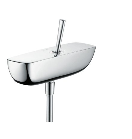 Single lever manual shower mixer for exposed installation