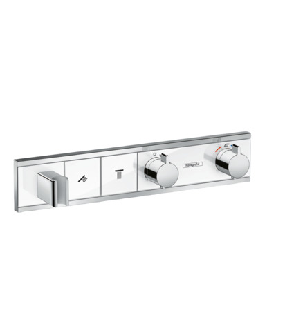 Thermostatic mixer for concealed installation for 2 outlets