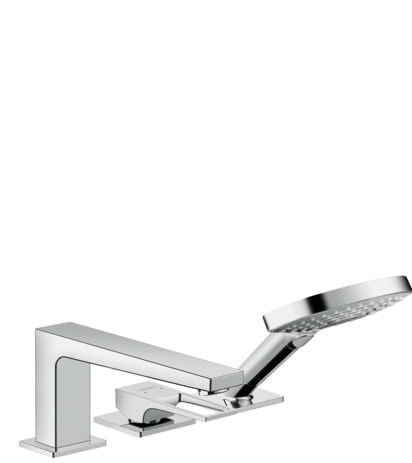 3-hole rim mounted single lever bath mixer with loop handle