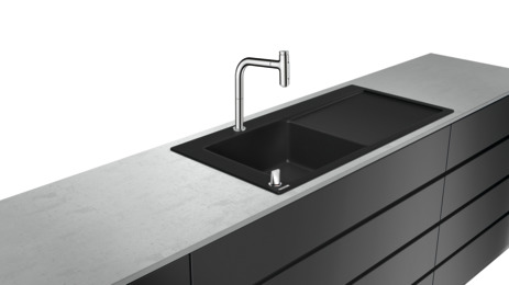 C51-F450-12 Sink combi 450 with drainboard right