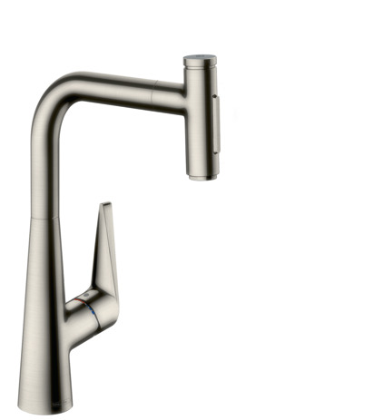 Single lever kitchen mixer 300, pull-out spray, 2jet, sBox
