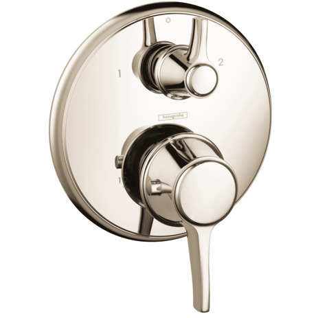 Thermostatic Trim with Volume Control and Diverter, Round