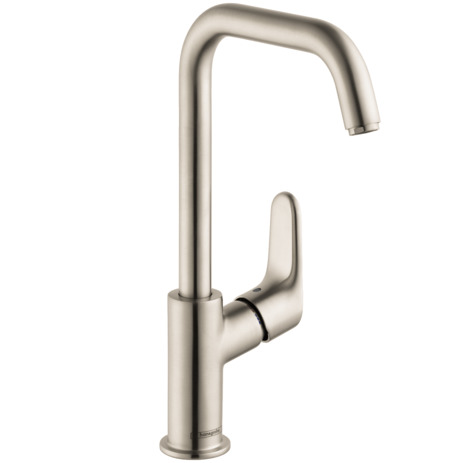 Single-Hole Faucet 240 with Swivel Spout and Pop-Up Drain, 1.2 GPM