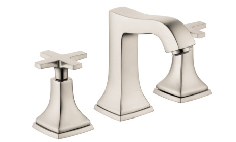 Widespread Faucet 110 with Cross Handles and Pop-Up Drain, 1.2 GPM