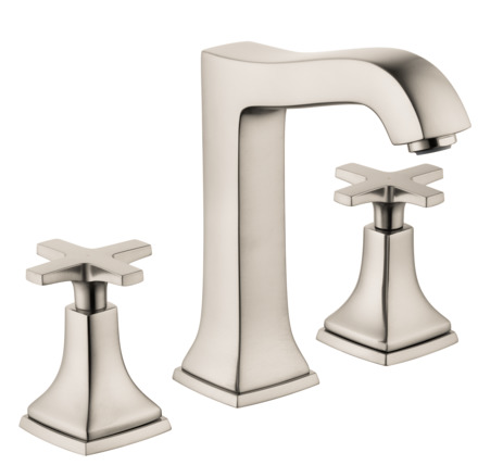Widespread Faucet 160 with Cross Handles and Pop-Up Drain, 1.2 GPM