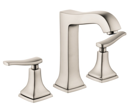Widespread Faucet 160 with Lever Handles and Pop-Up Drain, 1.2 GPM