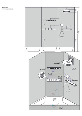 Thermostat for concealed installation for 3 functions