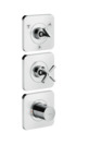Thermostatic module 380/120 for concealed installation for 3 outlets with escutcheons