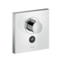 Thermostat HighFlow for concealed installation square for 1 function and additional outlet