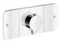 Thermostatic module for concealed installation for 2 functions