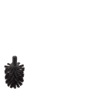 Replacement toilet brush black without handle