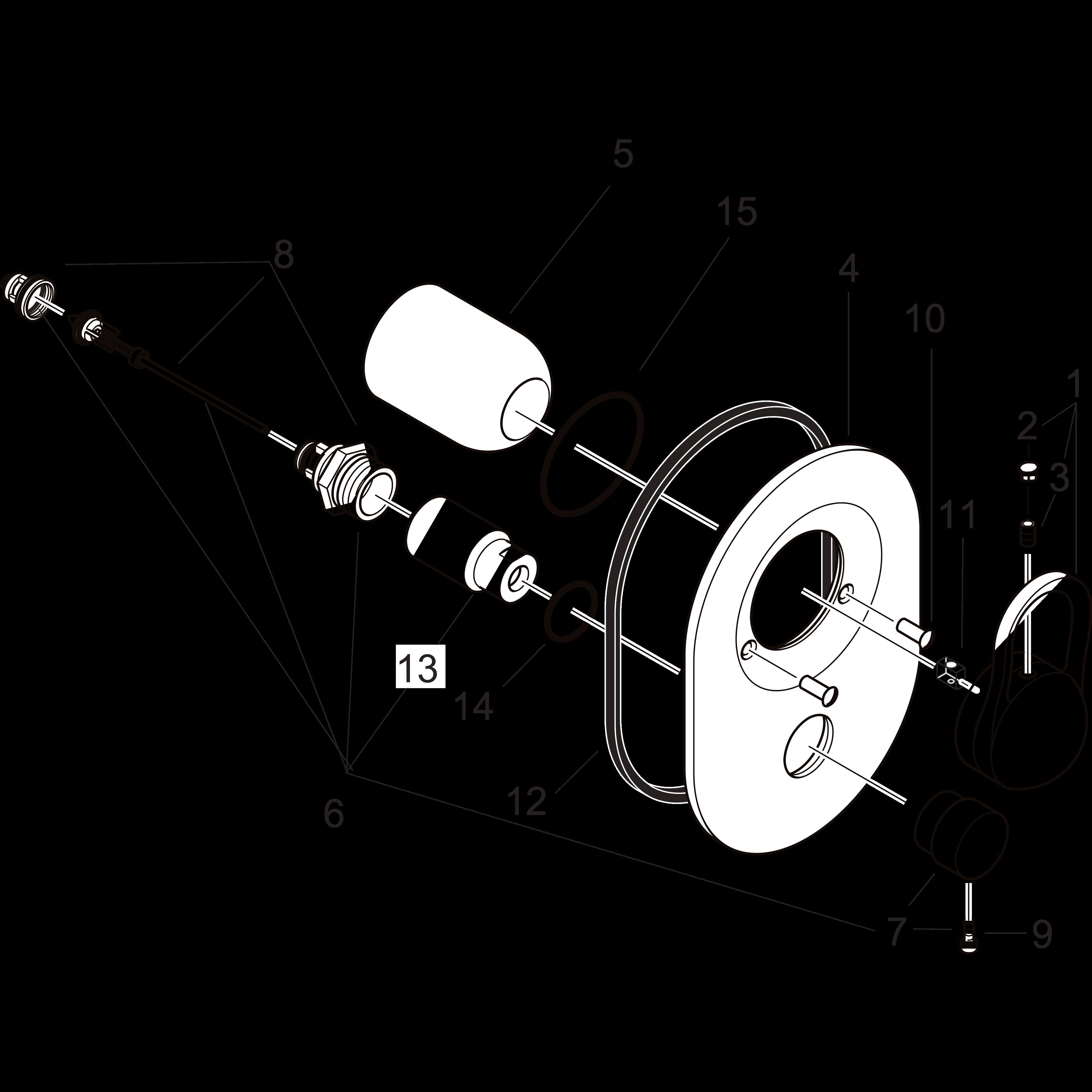 Zubeh/ör 16 St/ück f/ür Arbeitsplattenst/ärke 1-3 Mehrfarbig 5 cm hansgrohe K/üchensp/üle Spannelemente-Set