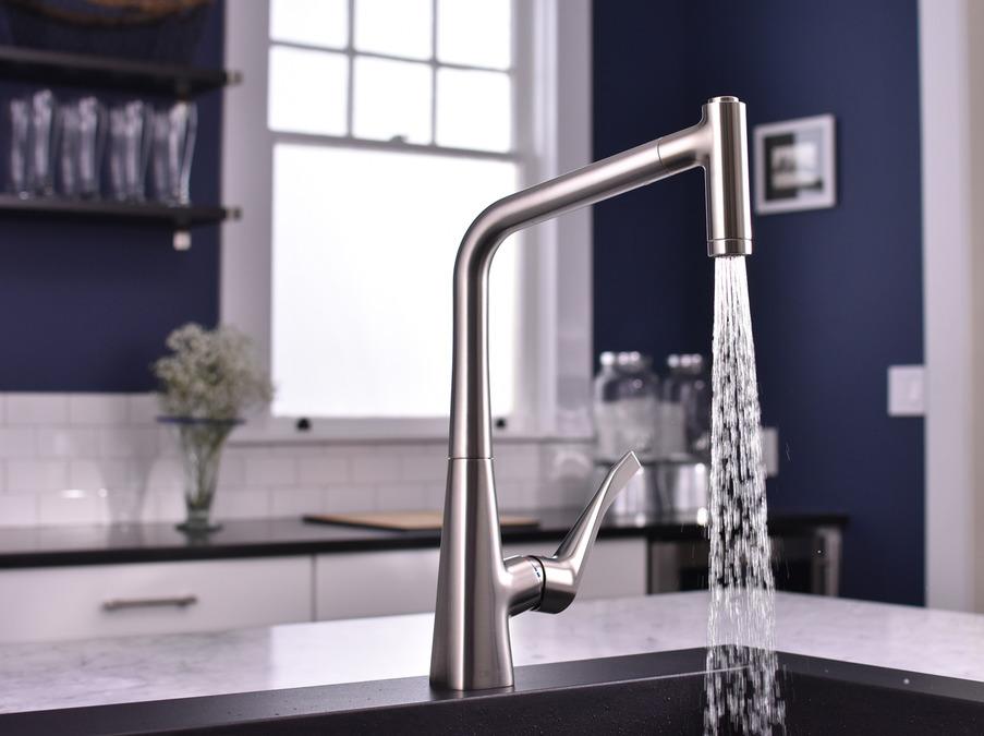 Hansgrohe Kitchen Faucets Metris Higharc Kitchen Faucet 2 Spray