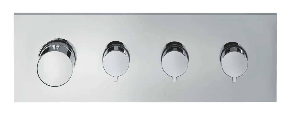 AXOR ShowerCollection Shower mixers: 3 outlets, Chrome, 10751000